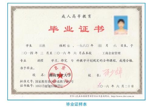 成人高考毕业证书
